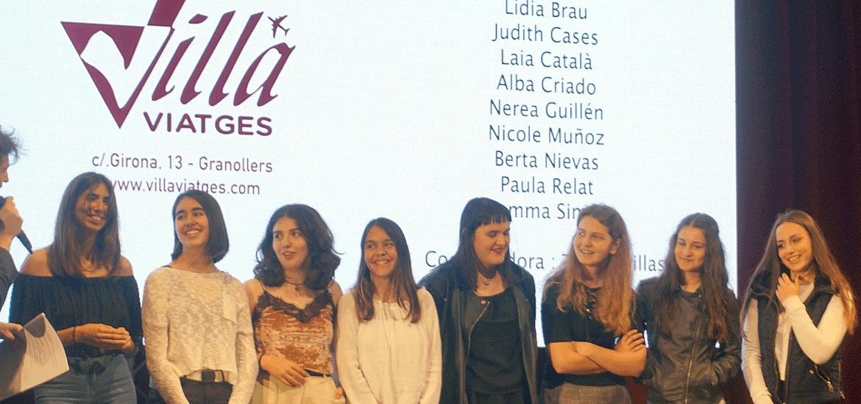 Equipo vencedor del 2º Certamen, perteneciente a la Escola Ginebró